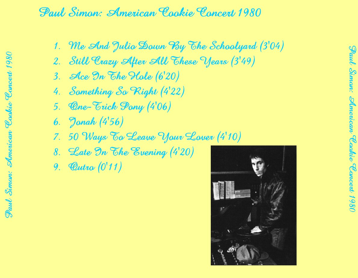 Simon Paul - American Cookie Concert 1980 back.jpg (118420 Byte)